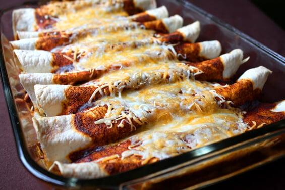 Seriously The BEST Chicken Enchiladas Ever!   gimmesomeoven.com