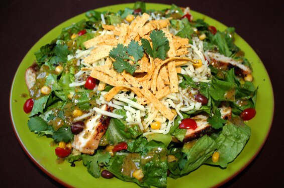 Santa Fe Salad with Cilantro-Lime-Peanut Vinaigrette {Gimme Some Oven}
