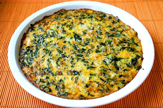 crustless-spinach-quiche-whole