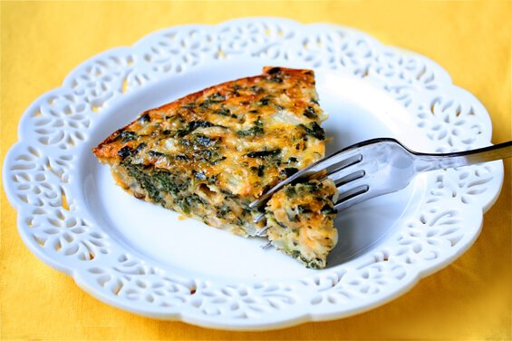 Crustless Spinach Quiche | Gimme Some Oven