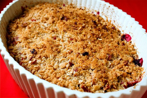 pluot-blueberry-crisp