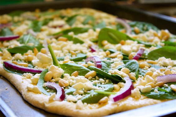 spinach-feta-and-pine-nut-pizza-prep