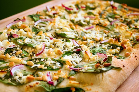 spinach-feta-and-pine-nut-pizza