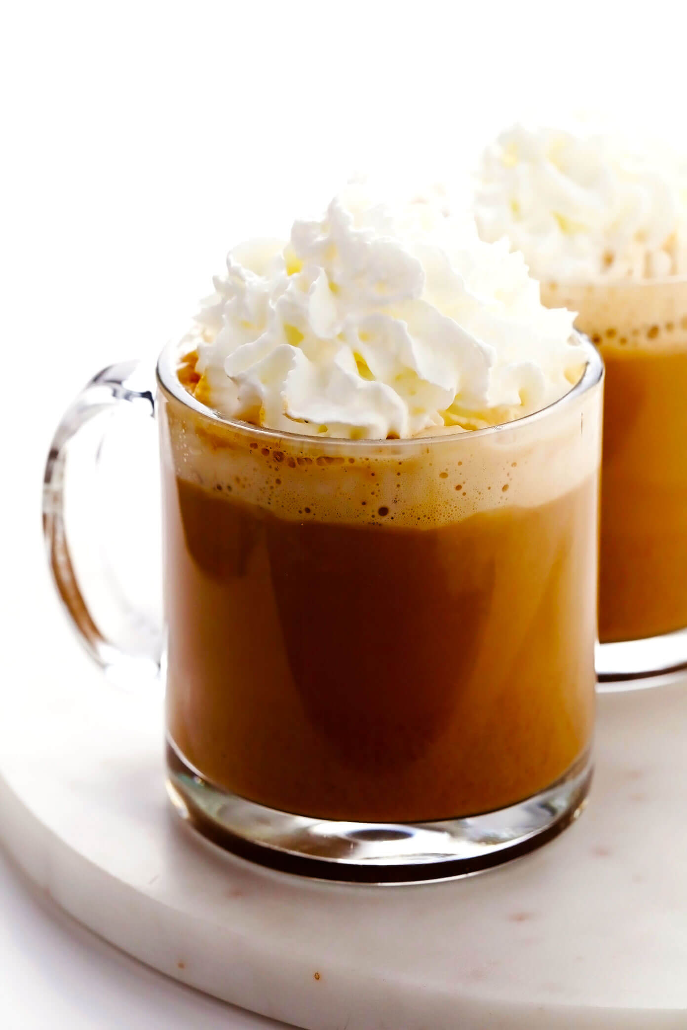 Homemade Pumpkin Spice Latte with Whipped Cream
