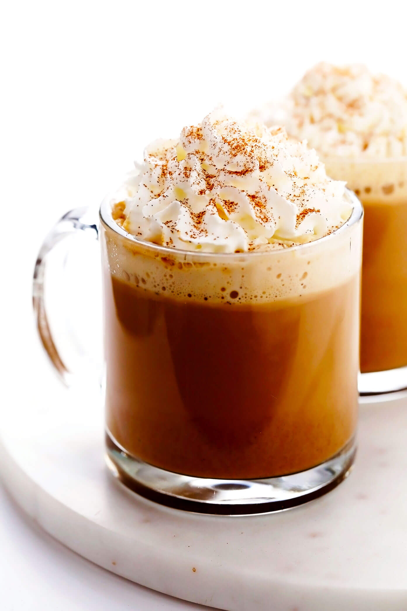 Homemade Pumpkin Spice Latte with Whipped Cream and Pumpkin Pie Spice
