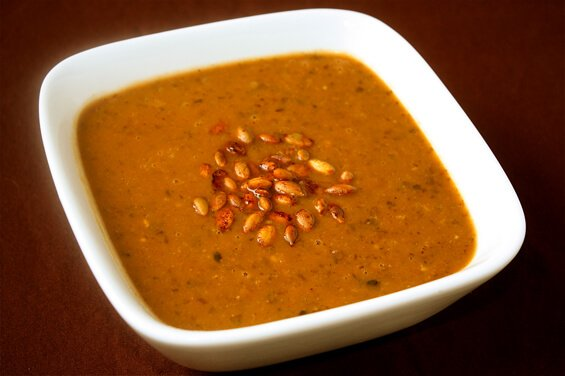 Pumpkin & Black Bean Soup {Gimme Some Oven}