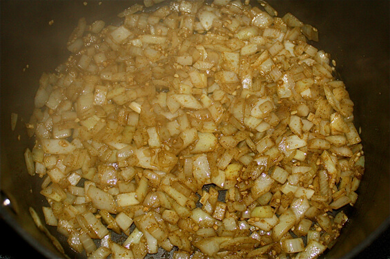 sauteeing-chopped-onions