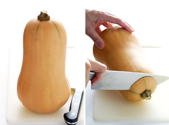 How To Peel & Cut Butternut Squash -- an easy step-by-step tutorial | gimmesomeoven.com