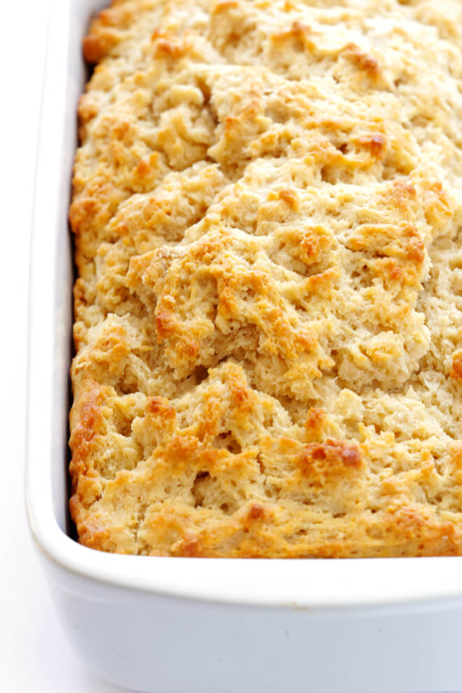 This delicious Honey Beer Bread recipe couldn't be easier to make. Just stir together 6 ingredients, pop it in the oven, and this delicious, buttery, sweet bread will be ready to go in less than an hour! | gimmesomeoven.com
