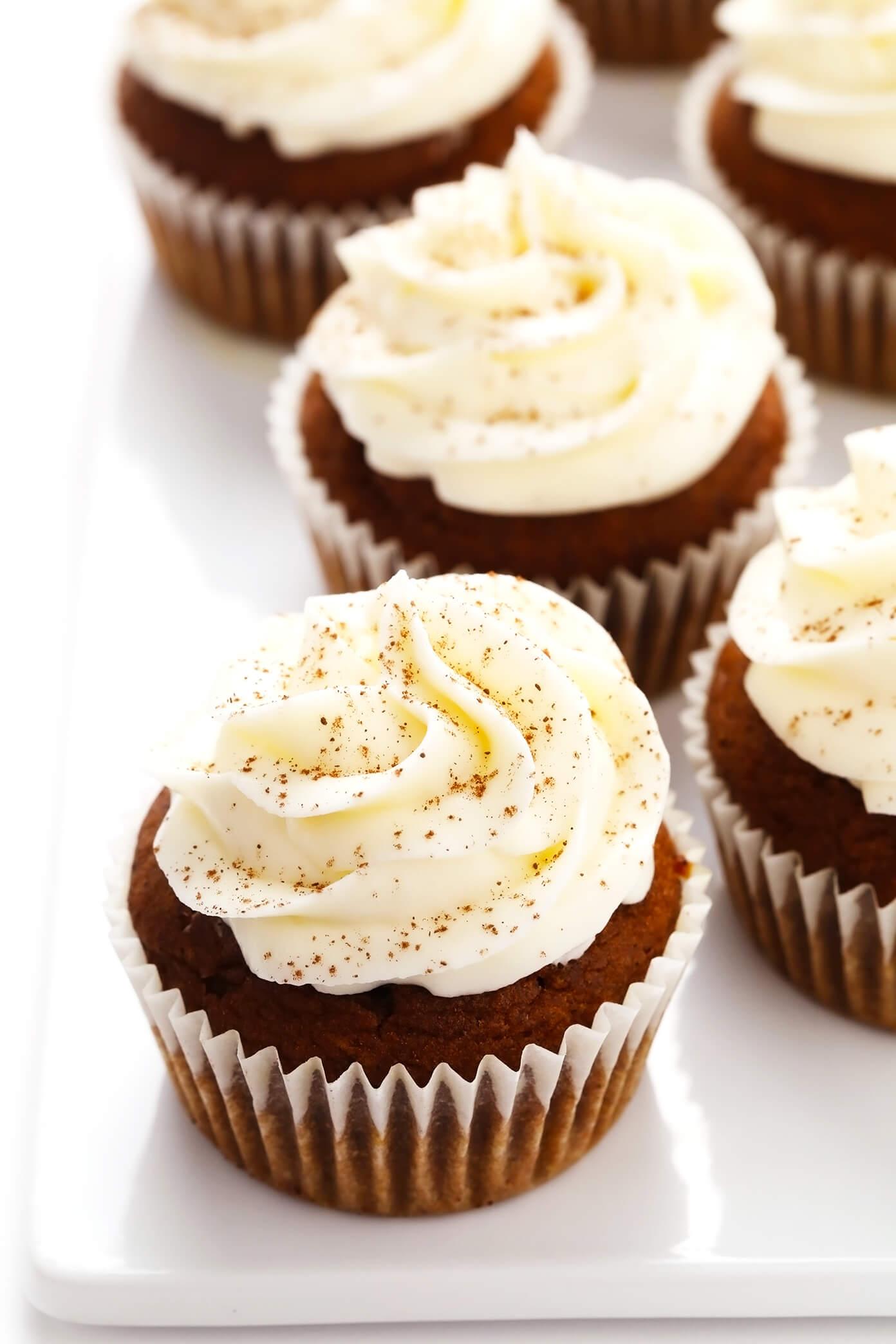 Pumpkin Cupcakes Closeup