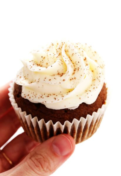 Pumpkin Cupcake with Cream Cheese Frosting and Cinnamon Sprinkles