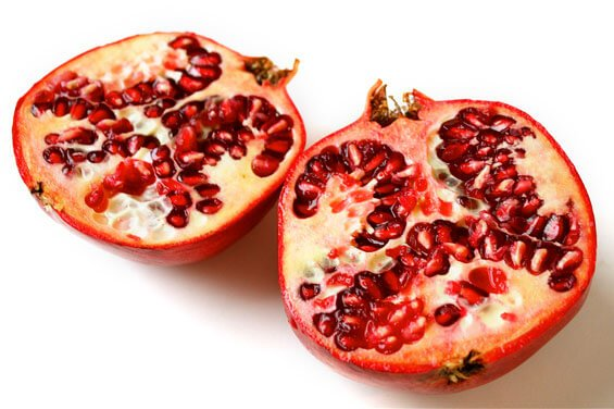 pomegrante-halves