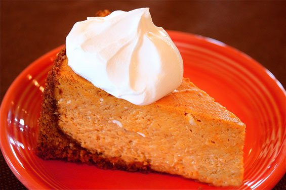 Pumpkin Cheesecake With Gingersnap Crust {Gimme Some Oven}