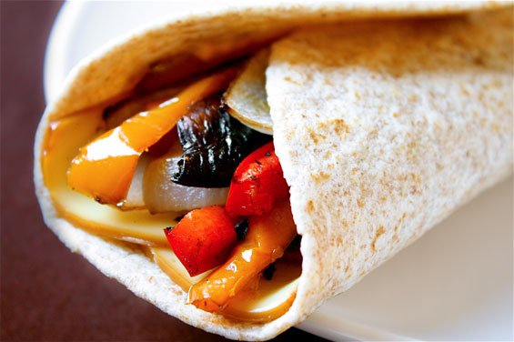 roasted-veggie-wrap