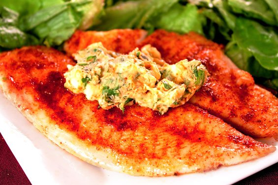 Tilapia With Cilantro-Lemon Butter {Gimme Some Oven}