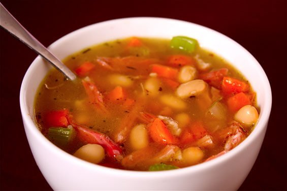 White Bean & Ham Soup {Gimme Some Oven}