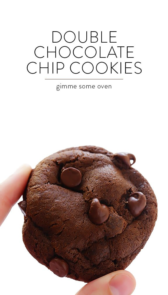 Double Chocolate Chip Cookies -- soft, chewy, and irresistibly good! | gimmesomeoven.com