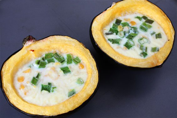 print yield 2 acorn squash halves roasted corn pudding in acorn squash ...