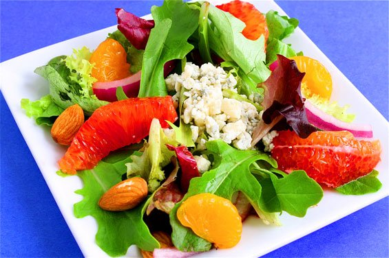 Colorful Orange Salad With Mandarin-Cider Vinaigrette
