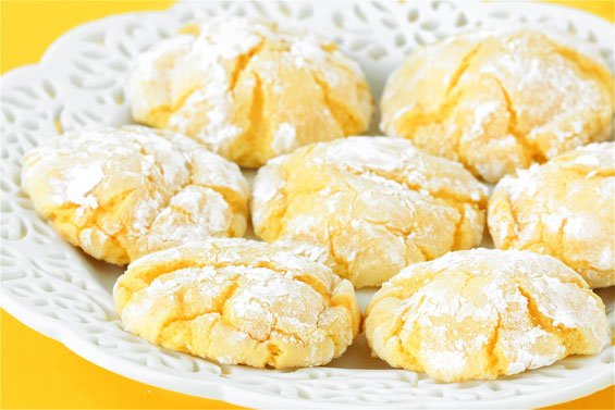 Soft Lemon Cookies Made From Cake Mix