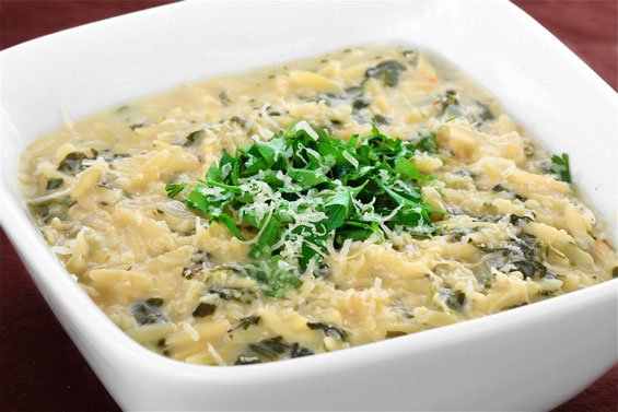 Spinach & Lemon Soup With Orzo Recipe | Gimme Some Oven