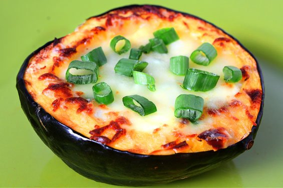 Roasted Corn Pudding In Acorn Squash Recipe | gimmesomeoven.com