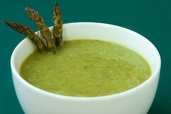Creamy Roasted Asparagus Soup {Gimme Some Oven}