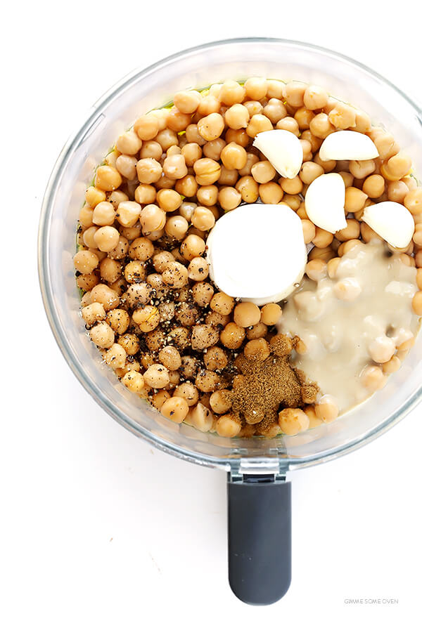 My FAVORITE hummus recipe! It's incredibly easy to make, perfect as a dip or spread, and so fresh and delicious   gimmesomeoven.com