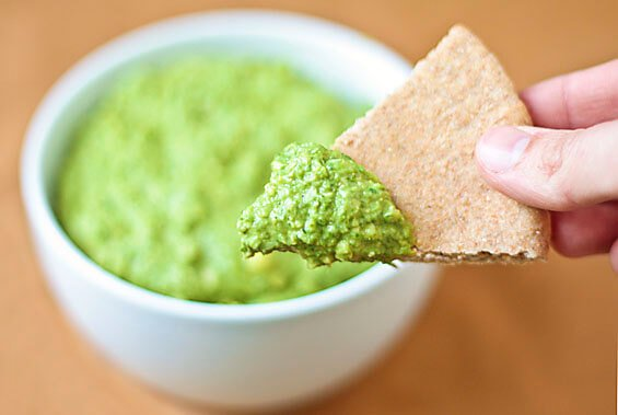 ... healthier (and vegan) alternative — spinach and artichoke hummus