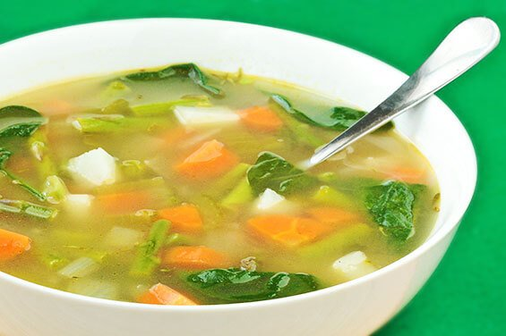 Spring Vegetable Minestrone Soup Recipe | Gimme Some Oven