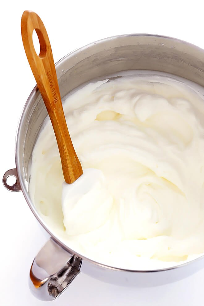 Learn how to make homemade whipped cream with this easy recipe (and step-by-step video!). You can make it in a stand mixer, food processor, blender, immersion blender, mason jar, or by hand. | gimmesomeoven.com