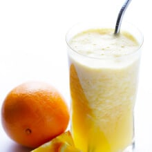 Copycat Orange Julius -- made with just 5 fresh and healthy ingredients! | gimmesomeoven.com