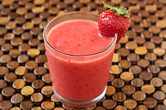 "2-Ingredient Strawberry ""Milk"" Shake 