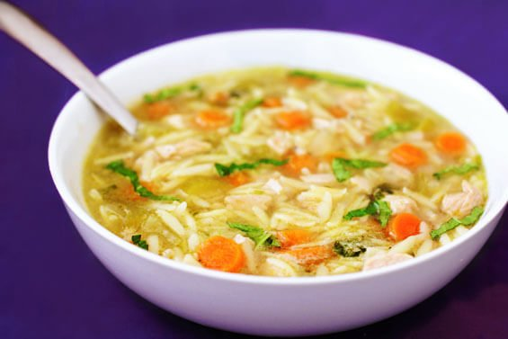 Basil, Chicken & Orzo Soup {Gimme Some Oven}