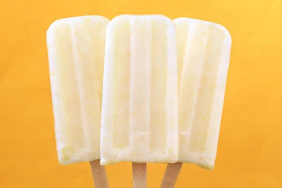 Creamy Lemon Popsicles