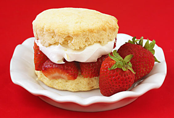 strawberries and thick sweet whipped cream…warm shortcake biscuits ...