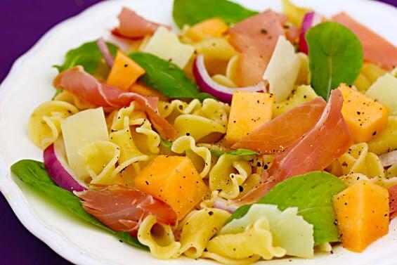 Prosciutto Melon Pasta Salad – I absolutely love the flavor ...