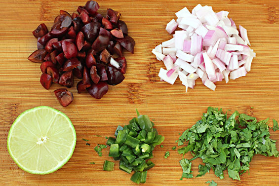 Grilled Tilapia with Cherry Salsa | Gimme Some Oven