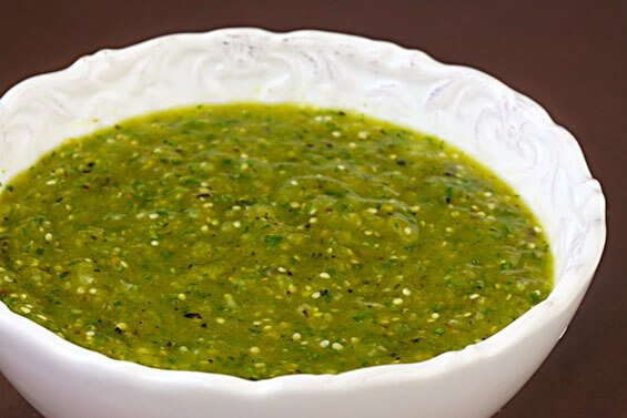 Tomatillo Salsa Verde | gimmesomeoven.com