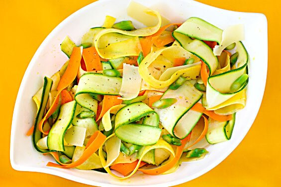 "Summer Vegetable ""Ribbon"" Salad"
