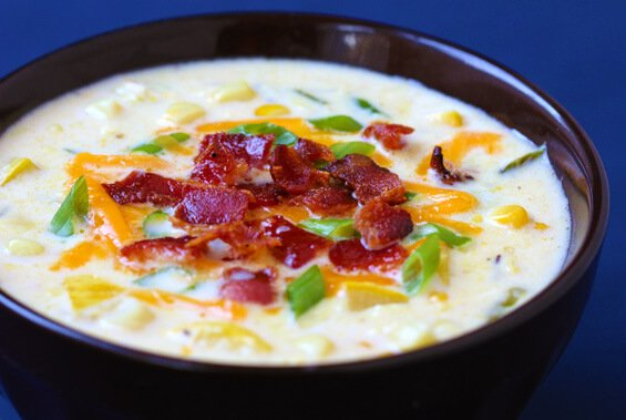 Summer Squash & Corn Chowder {Gimme Some Oven}