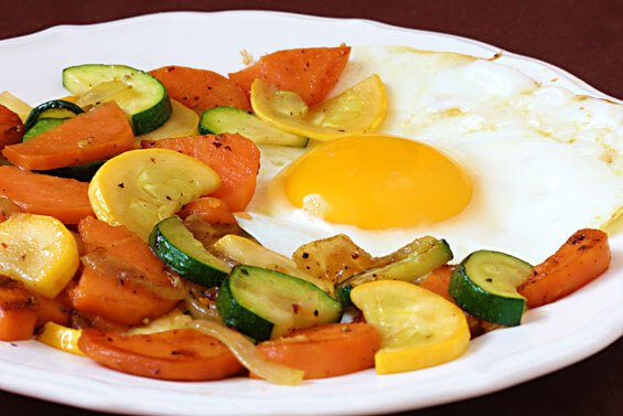Sweet Potato & Zucchini Hash {Gimme Some Oven}