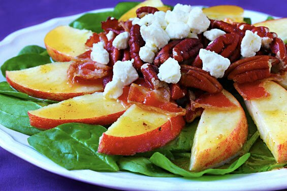 Apple Bacon Spinach Salad {Gimme Some Oven}