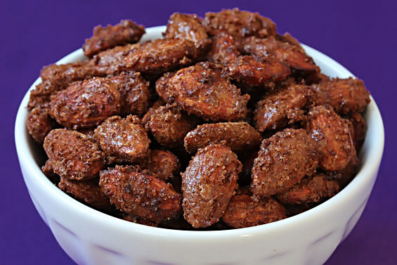 Spiced Cocoa Roasted Almonds {Gimme Some Oven}