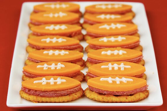 Football Bites (With Summer Sausage, Cheddar & Ranch)