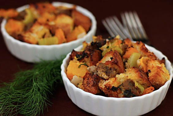 Roasted Butternut, Sausage & Fennel Stuffing {Gimme Some Oven}