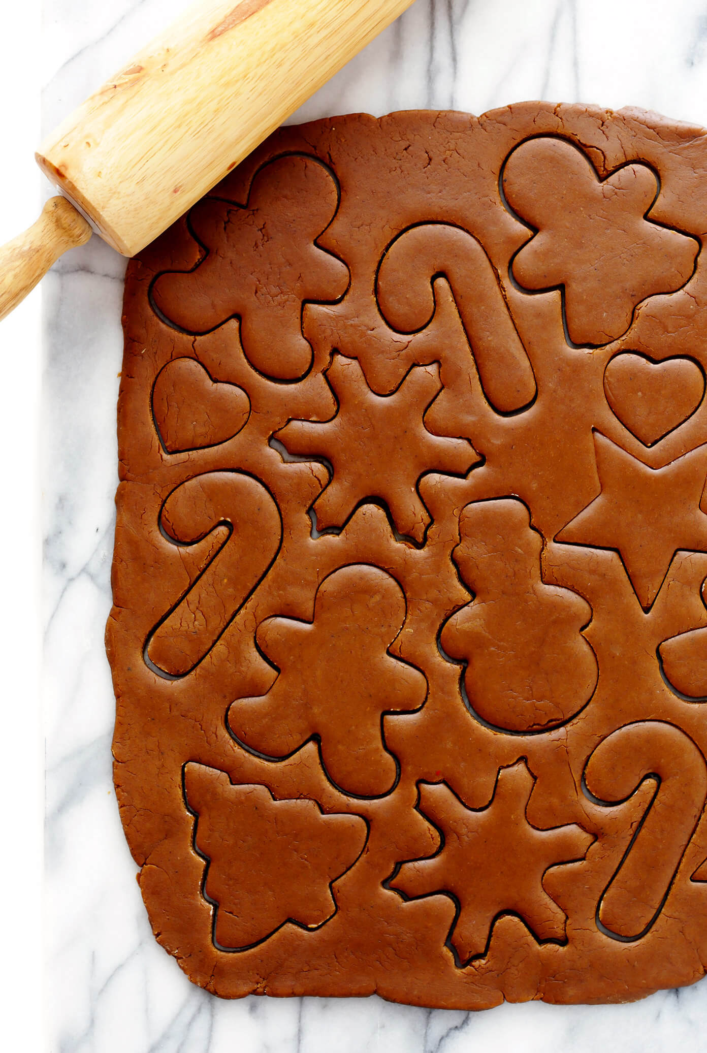 Cut Out Gingerbread Cookie Dough