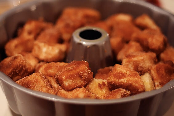 Monkey bread before baking