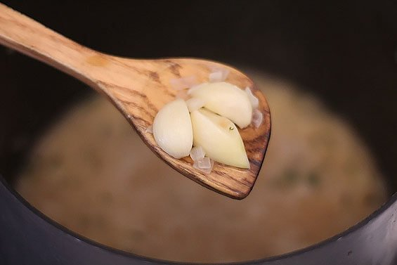 44-Clove Garlic (and Chicken) Soup | gimmesomeoven.com