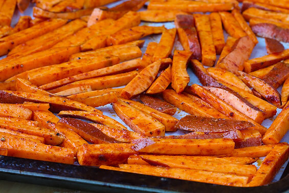 Baked Sweet Potato Fries Oven- baked sweet potato fries gimme some ...